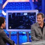 Mel Gibson durante su visita a 'El hormiguero'