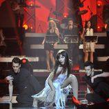 Pilar Rubio baila durante la gala de 'MQB'