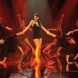 Baile de entrada de Pilar Rubio en la gala 4 de 'MQB'