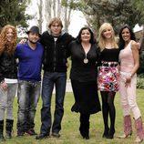 Sofía Cristo, Kiko Rivera, Carlos Navarro, Charo Reina, Anna Simón y Nuria Bermúdez
