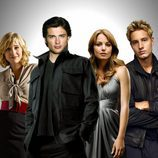 Allison Mack, Tom Welling, Erica Durance y Justin Hartley