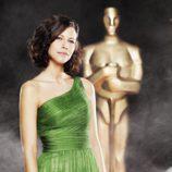 Cristina Teva en los Oscar 2010 de Canal+