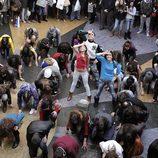 Los actores de 'FoQ' en el flashmob de 'Glee'