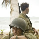 Robert Leckie descansa en 'The Pacific'