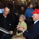 Tom Hanks en el rodaje de 'The Pacific'