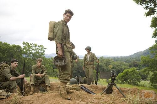 Los soldados descansan en 'The Pacific'