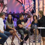 Mercedes Milá con los semifinalistas de 'GH: el reencuentro'