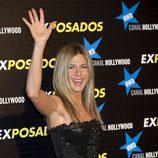 Jennifer Aniston saluda en Madrid