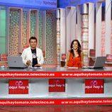 Jorge Javier Vázquez y Carmen Alcayde en 'Aquí hay tomate'
