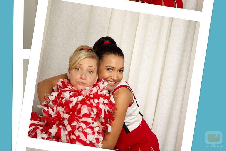 naya rivera and heather morris. Naya Rivera abraza a Heather
