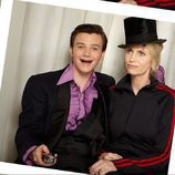 Jane Lynch y Chris Colfer