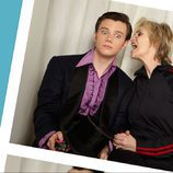 Chris Colfer, asustado por el grito de Jane Lynch