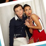 Chris Colfer y Naya Rivera