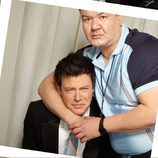 Patrick Gallagher con Cory Monteith