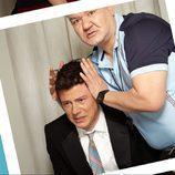Patrick Gallagher aplasta la cabeza de Cory Monteith