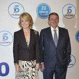 Esperanza Aguirre y Alejandro Echevarría