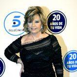 María Teresa Campos en la gala 20 años de Telecinco