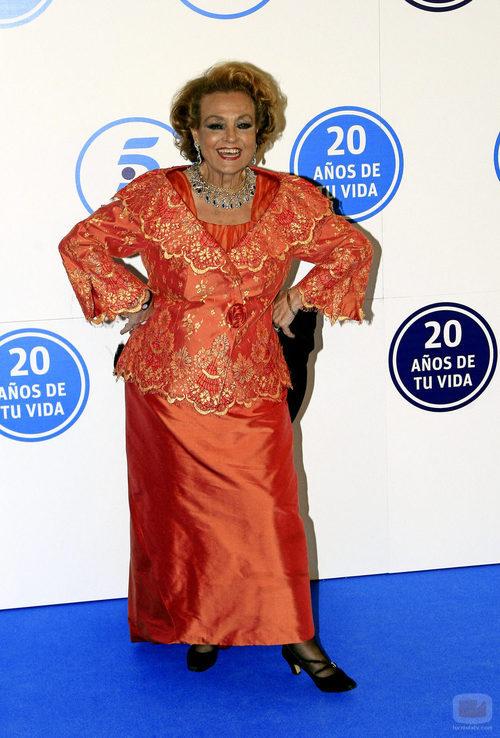 Carmen Sevilla en la gala de Telecinco