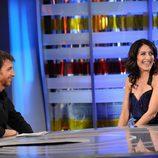 Lisa Edelstein con Pablo Motos