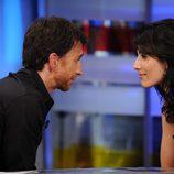 Lisa Edelstein y Pablo Motos