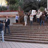 Manifestación frente a los juzgados en 'Karabudjan'