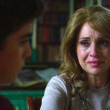 La Duquesa de Alba llora frente a su hijo