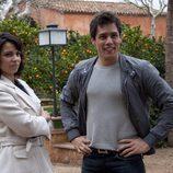 Óscar Reyes y Sara Elizondo en 'Gavilanes'