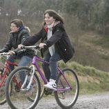 Pedro y Olga en bici