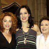 Cristina Marcos, Natalia Millán y Amparo Baró