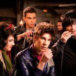 Yoli, Fer, Gorka y Román en 'La fiesta'