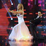 Carmen Lomana, de blanco, en la semifinal de 'MQB'