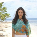 Eva González en la playa de 'Supervivientes'