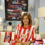 Ana Rosa Quintana apoya al Atlético de Madrid