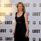 Kim Dickens en la fiesta final de 'Perdidos'