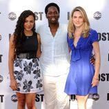Harold Perrineau con su mujer e hija