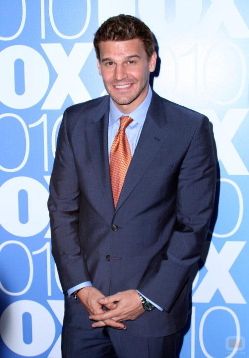 El actor David Boreanaz en los Upfronts de 2010