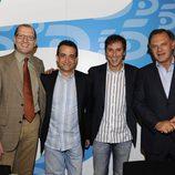 Manuel Villanueva, JJ Santos, Paco González y Pedro Piqueras