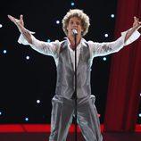 Daniel Diges en su actuación durante Eurovisión 2010