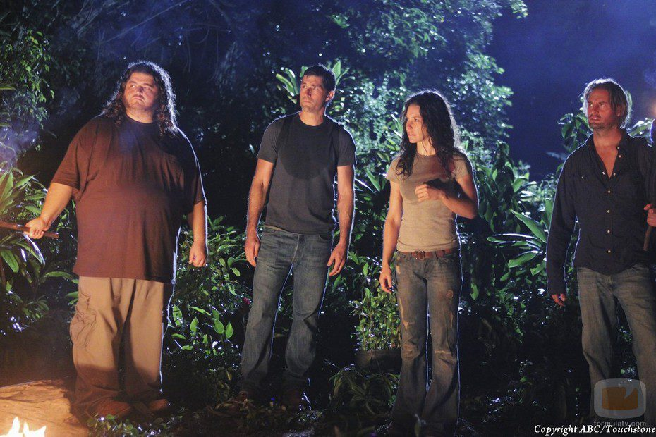 Kate, Sawyer, Jack y Hurley escuchan a Jacob