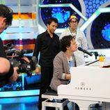 Jamie Cullum toca el piano en 'El hormiguero'