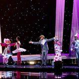 Daniel Diges durante su actuación en Eurovisión 2010