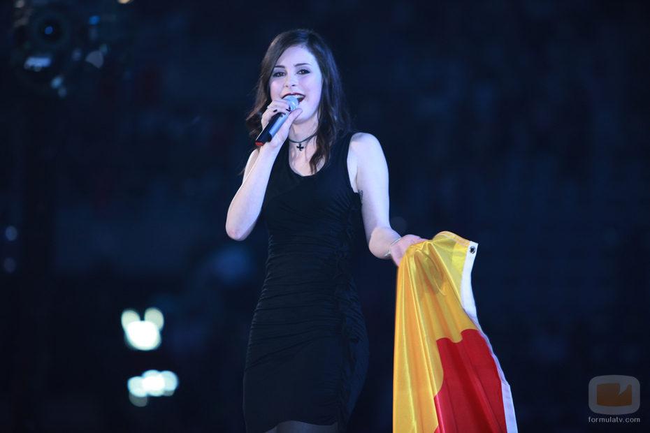Lena Meyer-Landrut canta tras ganar Eurovisión 2010