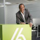 José Miguel Contreras con el logo de laSexta
