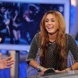 Miley Cyrus se ríe en 'El hormiguero'