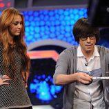 Miley Cyrus observa a Piedrahita