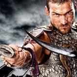 Cartel promocional de 'Spartacus: Sangre y Arena'