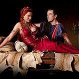 Lucretia y Batiatus en 'Spartacus: Sangre y Arena'
