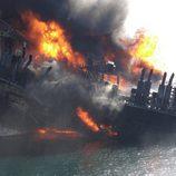 Hundimiento de la Deepwater Horizon en el Golfo de México