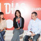 Samanta Villar, Adela Ucar y Mariano Blanco
