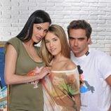 Elsa Pinilla, Nacho López y Laura More